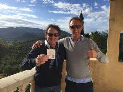 Marco Borsato gets his boat license
